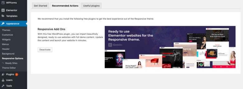 Import Pre-Designed Websites