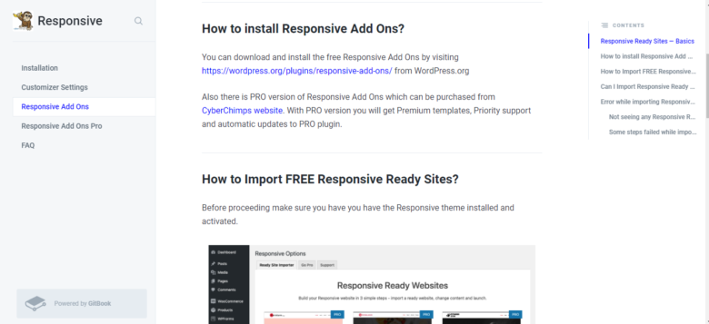Responsive Theme Add Ons