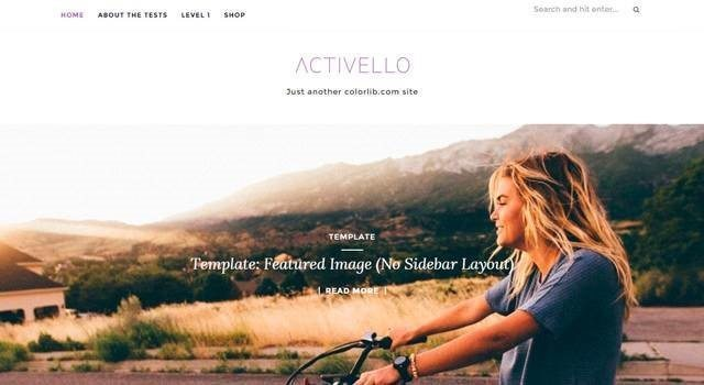Activello - wordpress themes 2016