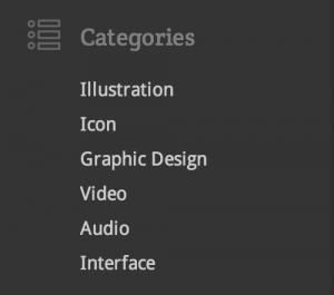 categories in sidebar