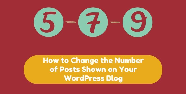 How To Change Number Of Posts On Blog Page