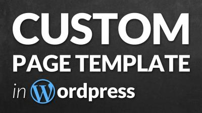 custom page template in wordpress