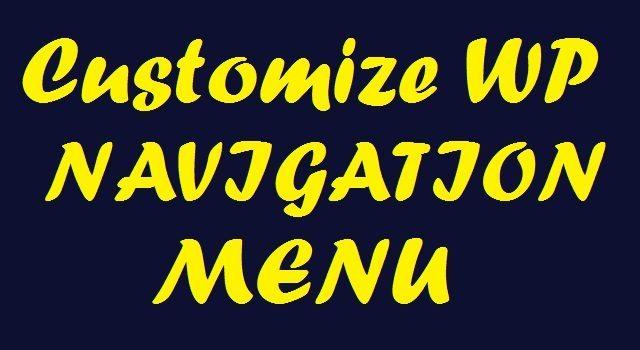 Customize WordPress Header Navigation Bar