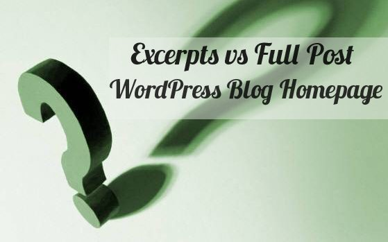 How To Display Full First Post Then Excerpts In WordPress Loop