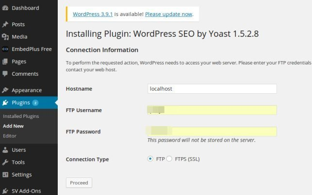 plugin update notice