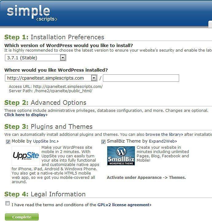 WordPress Installation Simple Scripts