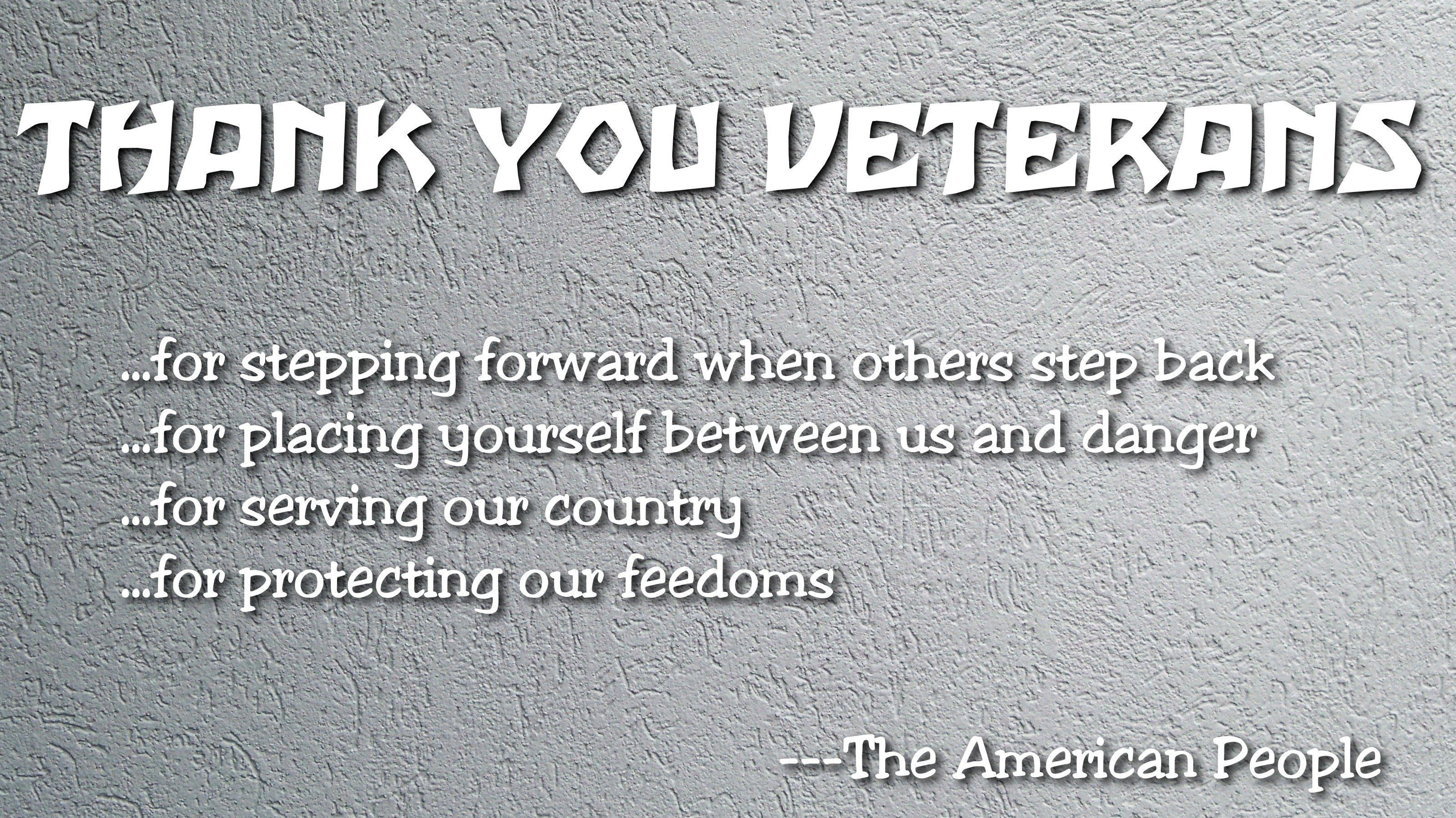 Thanks Veterans - WPArena