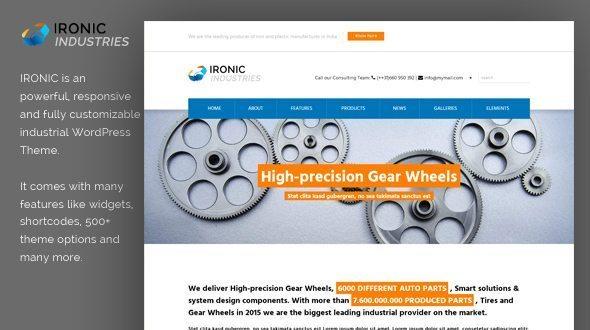 Ironic Industrial WordPress Theme