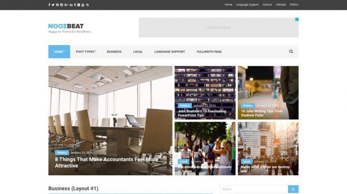 NoozBeat Theme WordPress