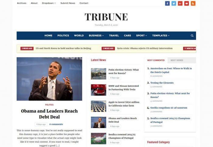 Tribune Theme By WPZoom