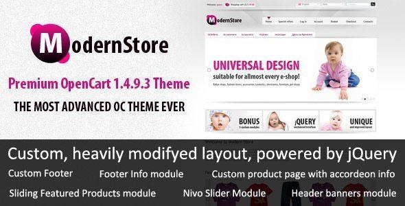 ModernStore OpenCart Theme