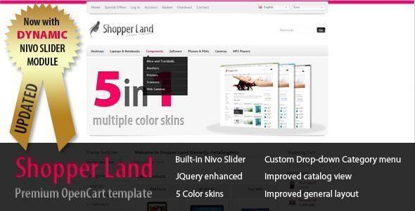Opencart-theme-Shopper-land