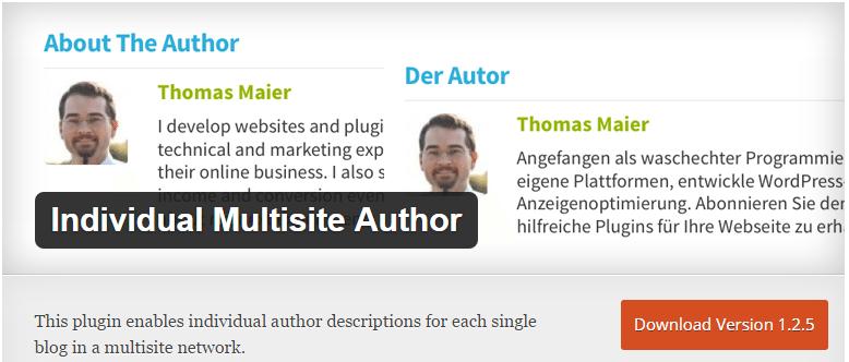 Multisite Author box