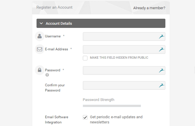 registration userpro