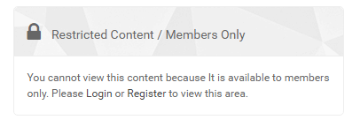 restrict content userpro