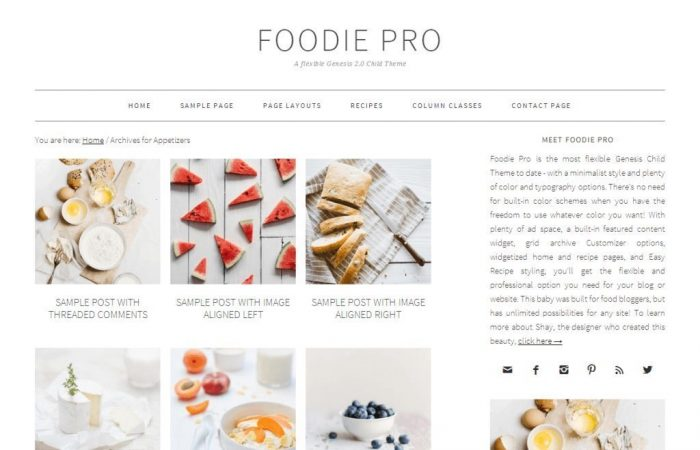 Top Theme Foodie Pro