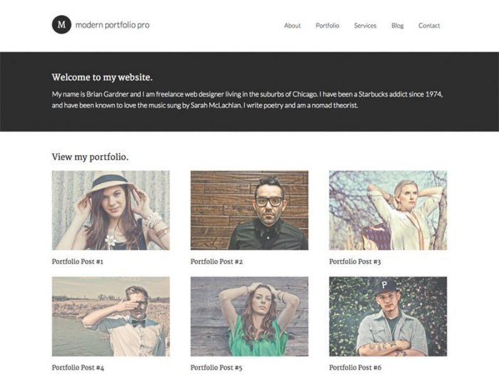 Modern Portfolio Theme by StudioPress