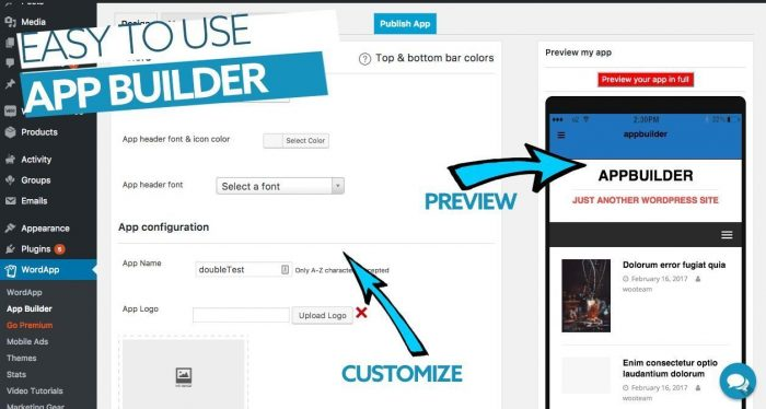 Preview Your WordPress APP