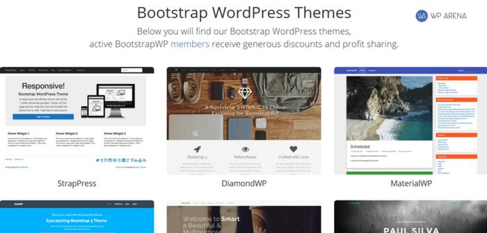 bootstrapwp member themes