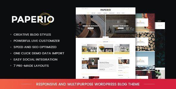 paperio WordPress theme review
