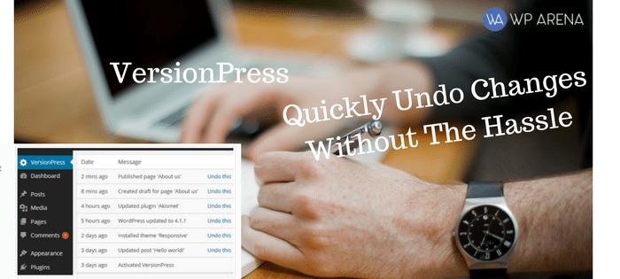 versionpress hassle