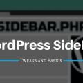 WordPress Sidebar tweaks