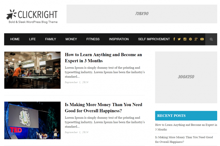 Clickright Review – Adsense WordPress Theme - WPArena