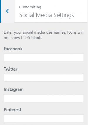 Clickright Social Media Settings