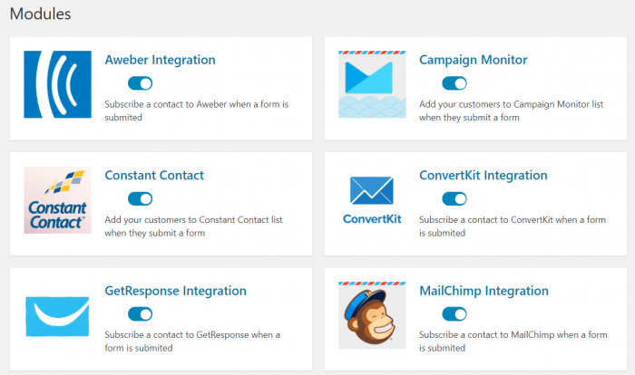 weForms Mail Service Integration