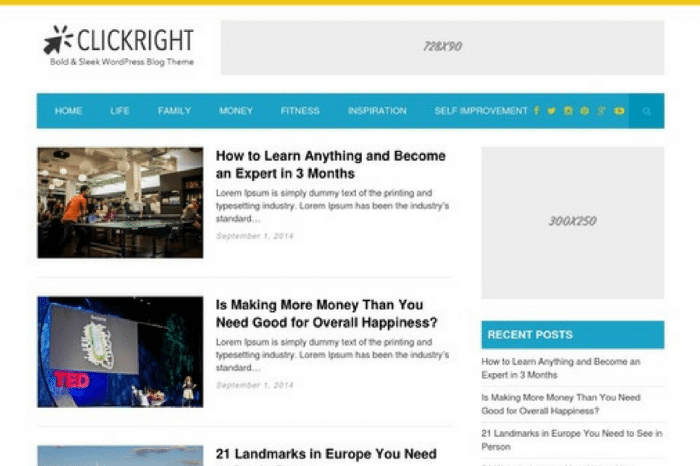 ClickRight WordPress Theme