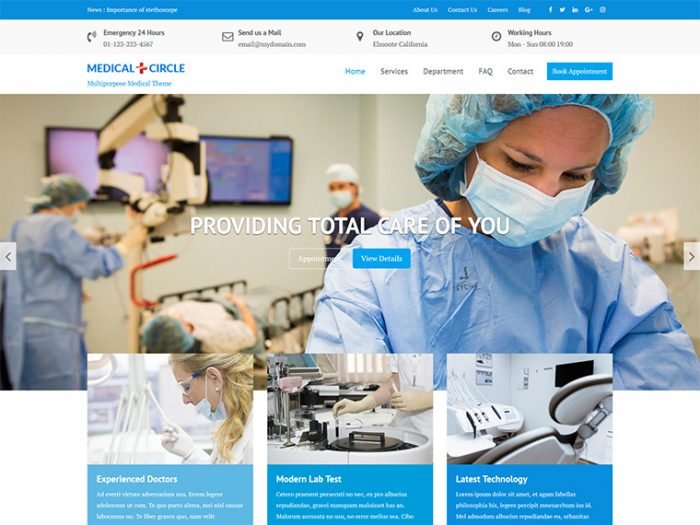 Medical Circle WordPress Theme