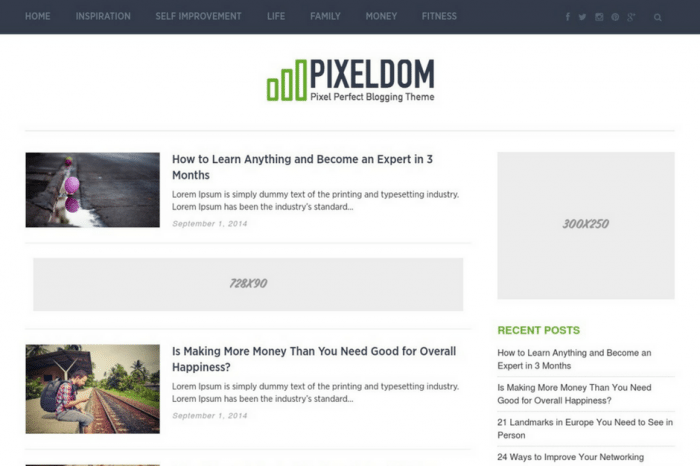 Pixeldom WordPress Theme
