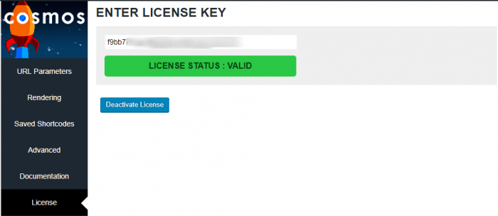 cosmos plugin license activation