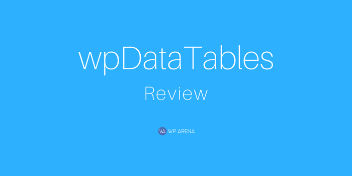 wpDataTables Review: Create Responsive Tables and Charts Easily