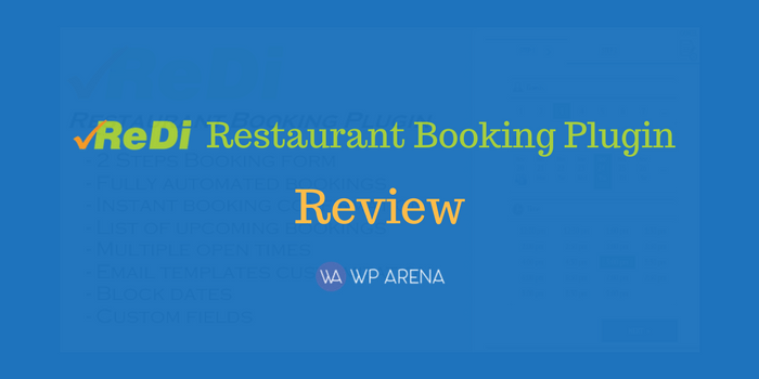 ReDi Restaurant Booking Plugin Review