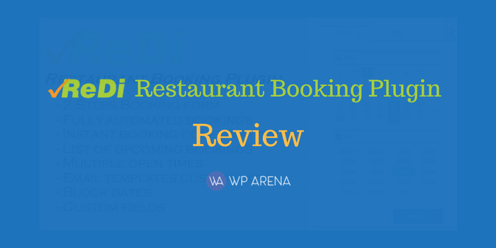 Make Bookings Easier with the ReDi Restaurant Booking Plugin