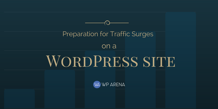 Traffic surges on a WordPress site