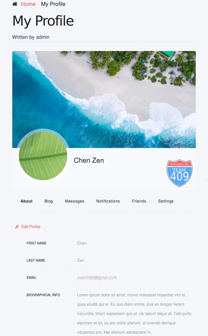 ProfileGrid review User Profile page