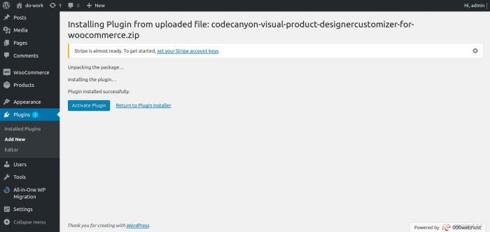 Activate Visual Product Designer plugin