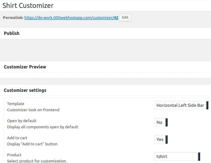 Create a new customizer in Visual Product Customizer