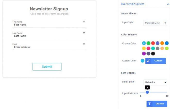 ARForms Newsletter Sign up