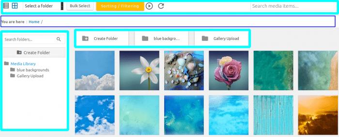 Interface Components of WP Media Folder Plugin