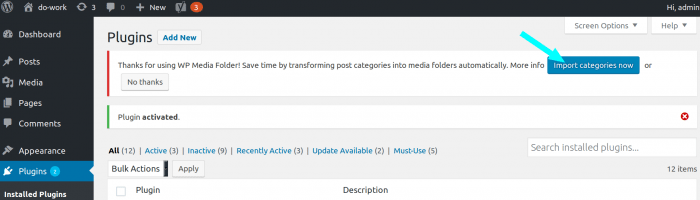 Create folders for each post category with WP Media Folder