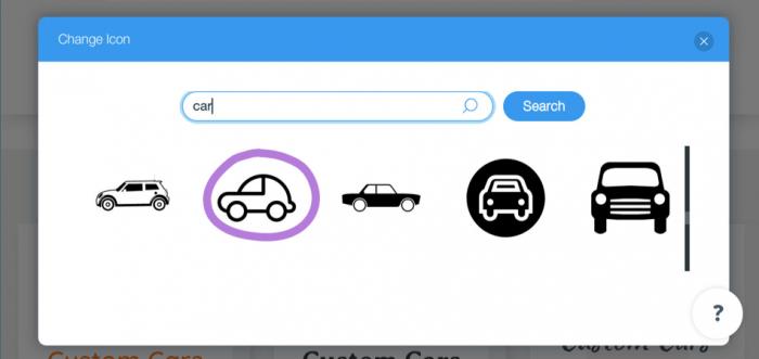 Wix Change Icon