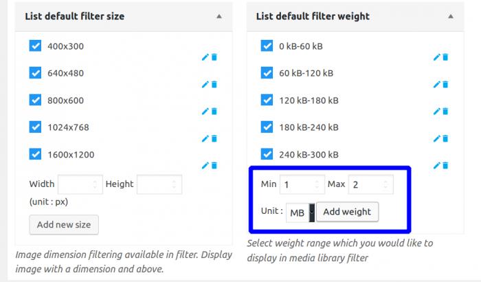 WP Media Folder custom search filters