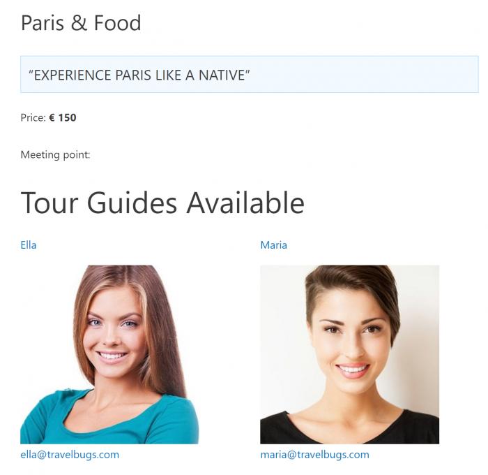 Paris & Food front end