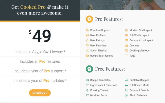 Cooked Pro Pricing