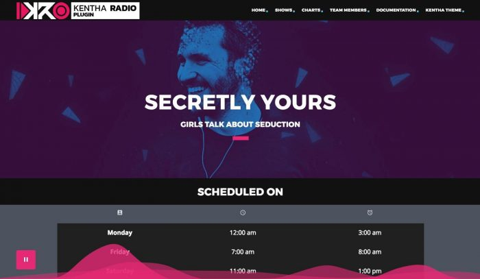 Radio show page