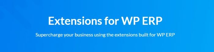 WP ERP Extenstions