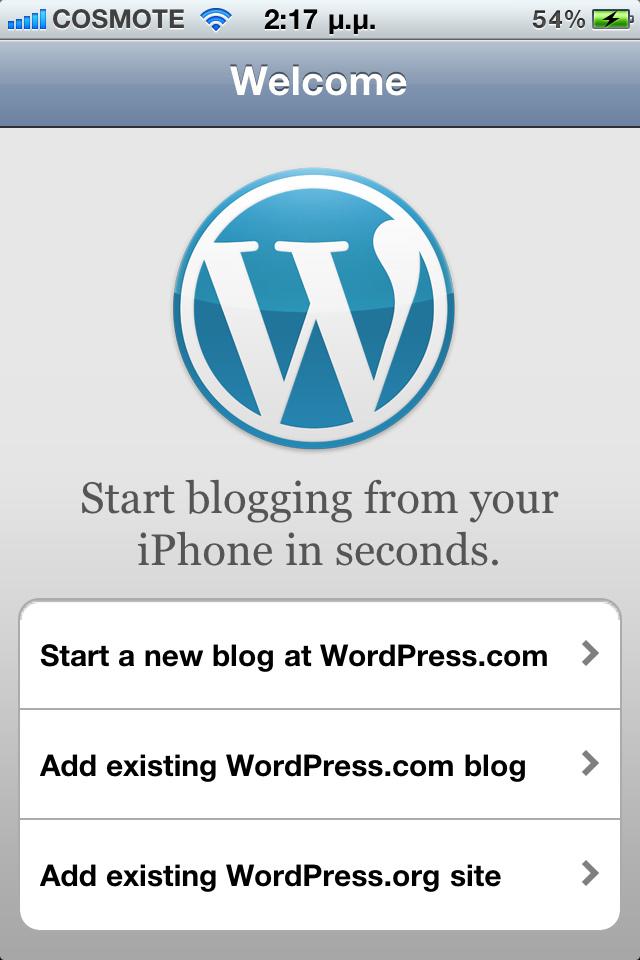 Mobile WordPress site